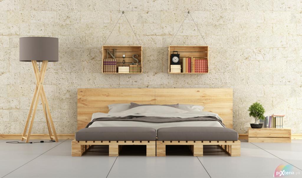 Industrialny styl sypialni