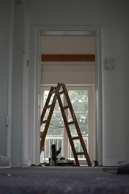 drabina, remont domu, koszty remontu, mieszkanie, dom