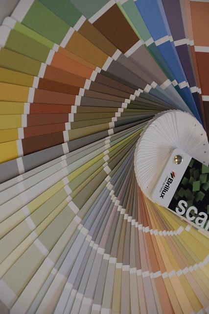 paleta kolorów, farb, ściany, malowanie